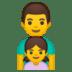 👨👧 family: man, girl Emoji on Google Platform