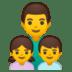 👨👧👦 family: man, girl, boy Emoji on Google Platform