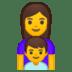 👩👦 family: woman, boy Emoji on Google Platform