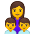 👩‍👦‍👦 family: woman, boy, boy Emoji on Google Platform