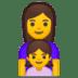 👩👧 family: woman, girl Emoji on Google Platform