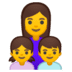 👩‍👧‍👦 family: woman, girl, boy Emoji on Google Platform