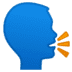 🗣️ speaking head Emoji on Google Platform