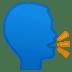 🗣️ Speaking Head Emoji on Google Platform