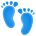 👣 footprints Emoji on Google Platform