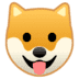 🐶 dog face Emoji on Google Platform