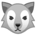 🐺 wolf Emoji on Google Platform