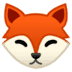 🦊 Fox Emoji on Google Platform