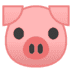 🐷 pig face Emoji on Google Platform