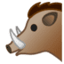 🐗 boar Emoji on Google Platform