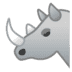 🦏 rhinoceros Emoji on Google Platform