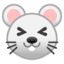 🐭 mouse face Emoji on Google Platform