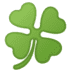 🍀 four leaf clover Emoji on Google Platform
