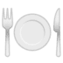 🍽️ fork and knife with plate Emoji on Google Platform