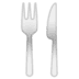 🍴 Fork and Knife Emoji on Google Platform