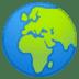 🌍 globe showing Europe-Africa Emoji on Google Platform