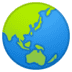 🌏 globe showing Asia-Australia Emoji on Google Platform