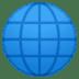 🌐 globe with meridians Emoji on Google Platform