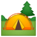 🏕️ camping Emoji on Google Platform