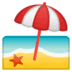🏖️ beach with umbrella Emoji on Google Platform