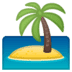 🏝️ desert island Emoji on Google Platform