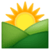 🌄 sunrise over mountains Emoji on Google Platform