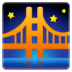 🌉 bridge at night Emoji on Google Platform