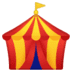🎪 circus tent Emoji on Google Platform