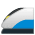 🚄 high-speed train Emoji on Google Platform