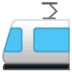 🚈 Light Rail Emoji on Google Platform