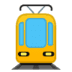 🚊 tram Emoji on Google Platform