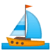 ⛵ Sailboat Emoji on Google Platform