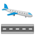 🛬 Airplane Arrival Emoji on Google Platform