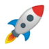 🚀 rocket Emoji on Google Platform
