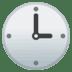 🕒 three o'clock Emoji on Google Platform