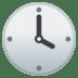 🕓 four o'clock Emoji on Google Platform