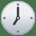 🕖 seven o'clock Emoji on Google Platform