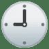 🕘 nine o'clock Emoji on Google Platform