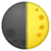 🌓 first quarter moon Emoji on Google Platform