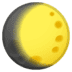 🌔 waxing gibbous moon Emoji on Google Platform