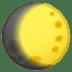 🌔 Waxing Gibbous Moon Emoji on Google Platform