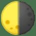 🌗 Last Quarter Moon Emoji on Google Platform