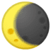 🌘 waning crescent moon Emoji on Google Platform