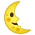 🌜 last quarter moon face Emoji on Google Platform