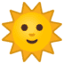 🌞 sun with face Emoji on Google Platform