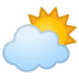 ⛅ sun behind cloud Emoji on Google Platform