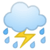 ⛈️ cloud with lightning and rain Emoji on Google Platform