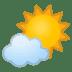 🌤️ sun behind small cloud Emoji on Google Platform