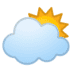🌥️ sun behind large cloud Emoji on Google Platform