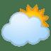 🌥️ Sun Behind Large Cloud Emoji on Google Platform
